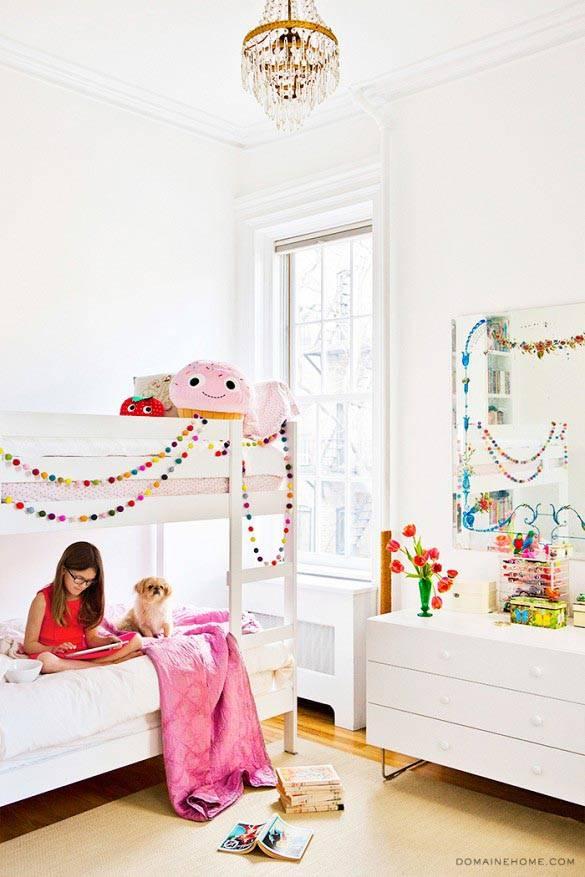 белый цвет в детской комнате