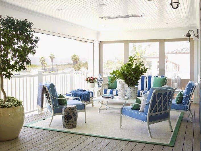 Красивый интерьер дома на побережье в Калифорнии