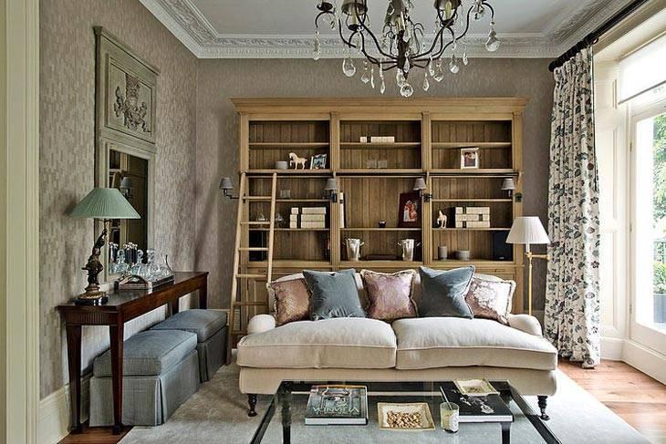 спокойный дизайн интерьера в Лондоне