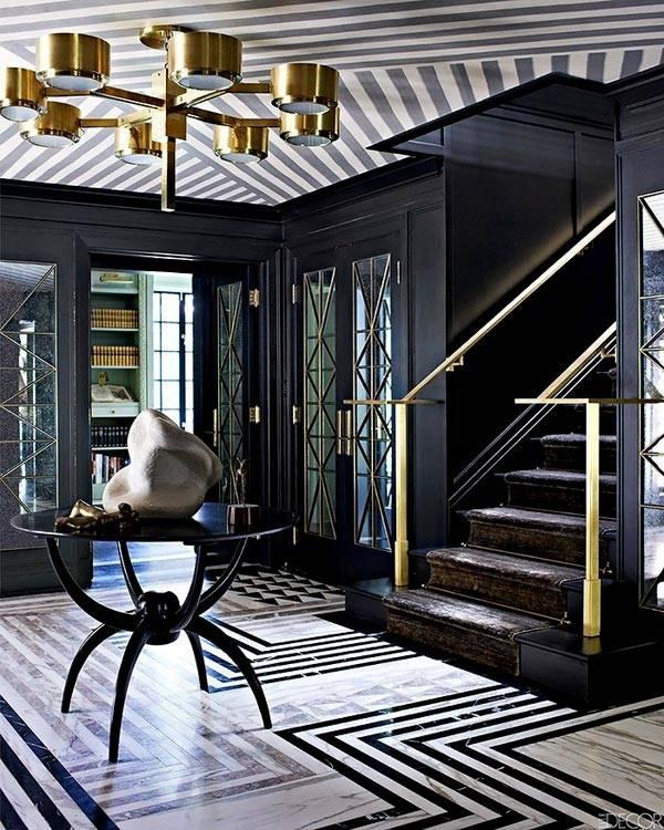 черный и золото в дизайне интерьера фото