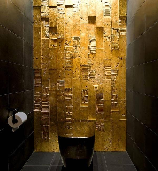 черный и золотой в дизайне интерьера фото