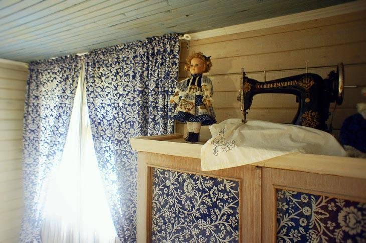 интерьер спальни в деревенском стиле фото