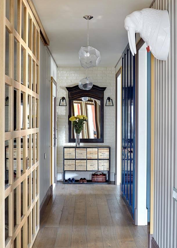 Смелый дизайн интерьера квартиры в Москве, фото