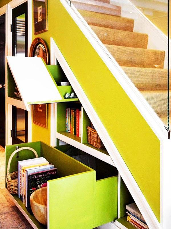 идеи хранения под лестницей