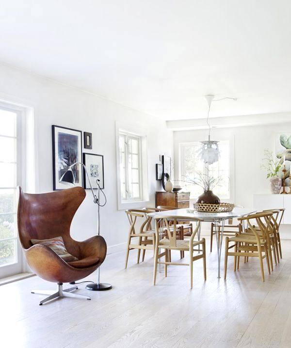 кожаное кресло Egg Chair