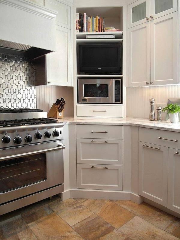 угловой шкаф на кухне