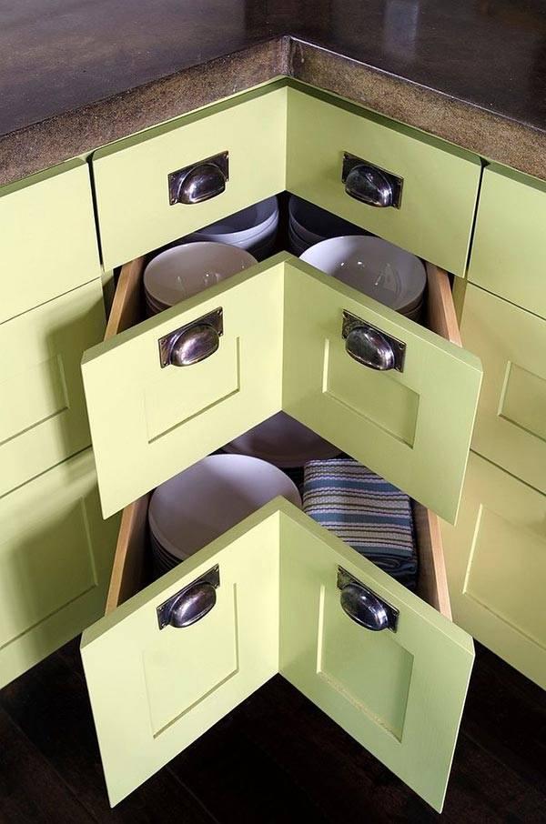 кухонный угловой ящик фото