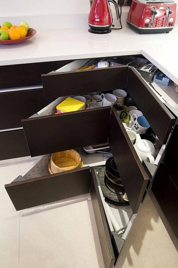 угловые ящики кухня