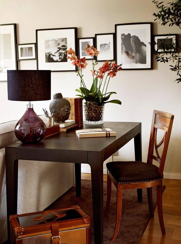 коричневый интерьер квартиры фото