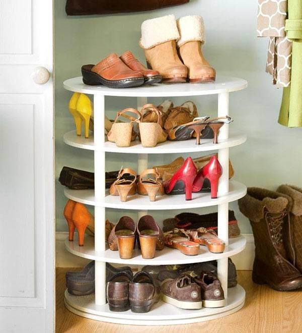 Полка для обуви круглая своими руками