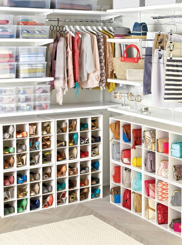 хранение в гардеробной комнате