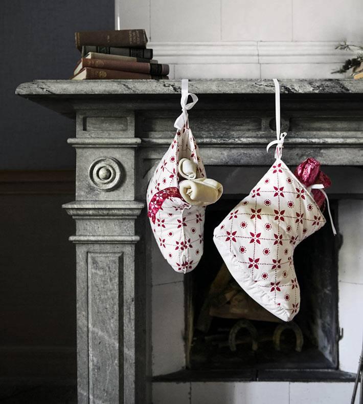 рождественские сапоги для подарков