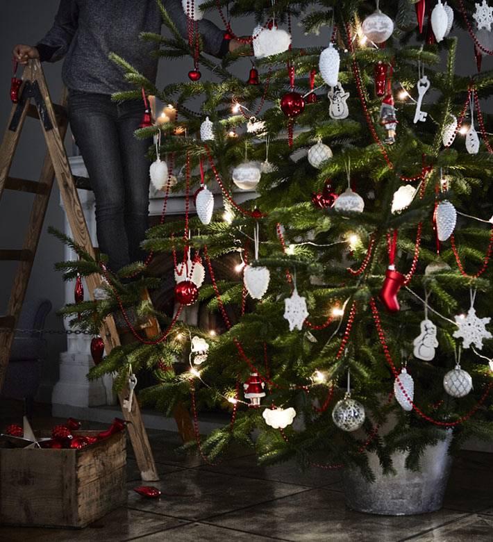 новогоднее украшение елки от ИКЕА
