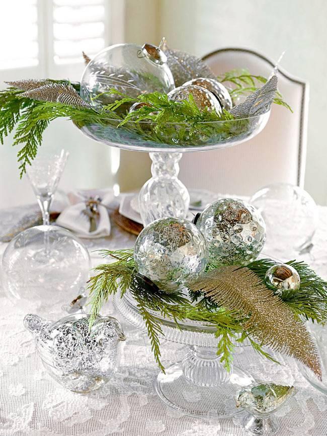 стеклянный новогодний декор