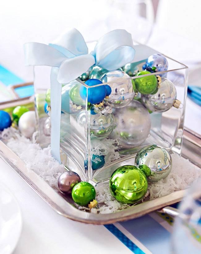 новогодние игрушки в декоре