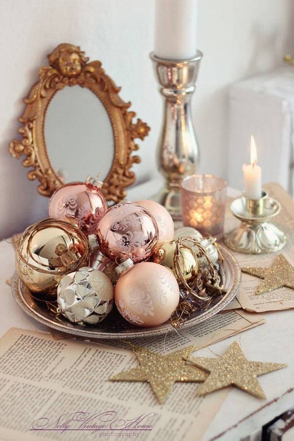 пастель в новогоднем декоре фото