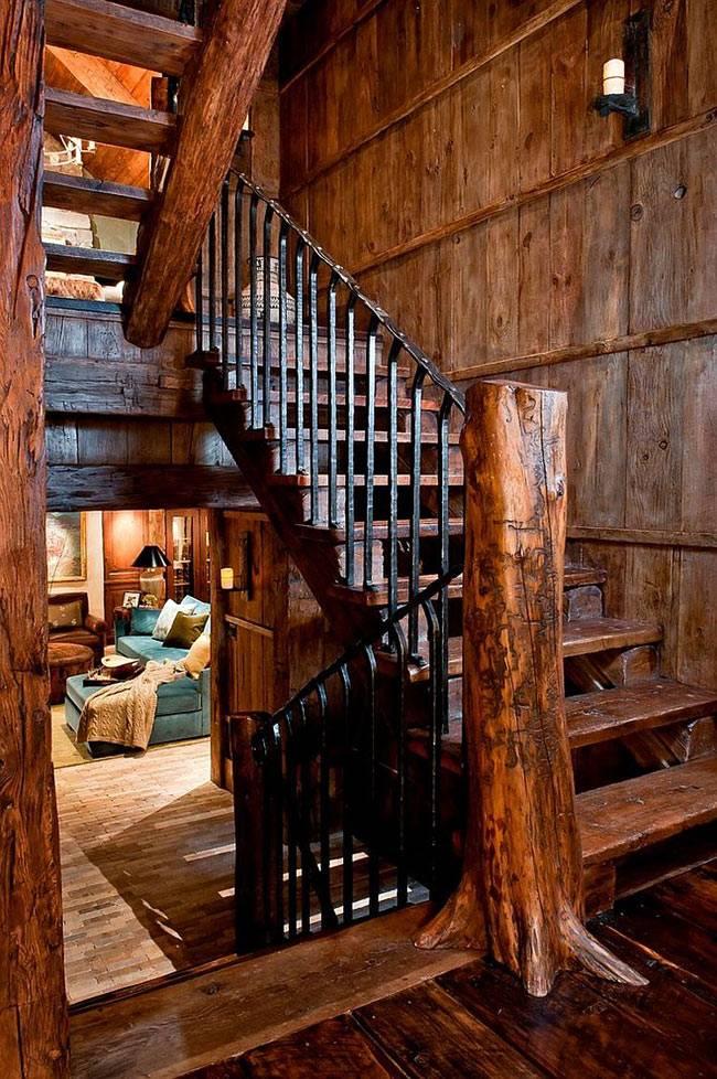 дизайн интерьера дома в горах