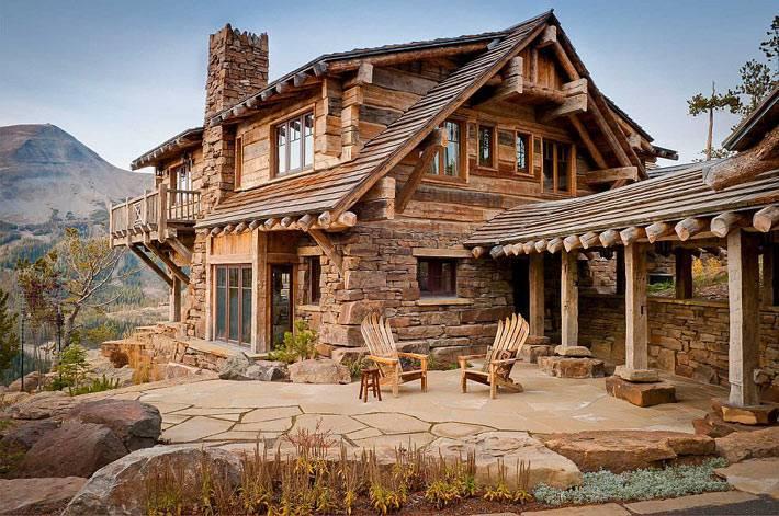 дом с видом на горы фото