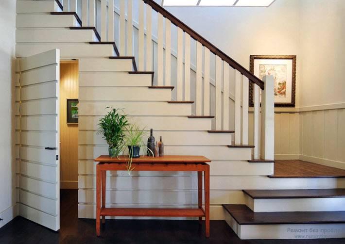 комната под лестницей в интерьере