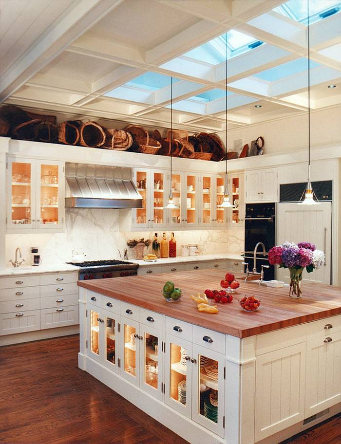 мансардные окна на кухне фото