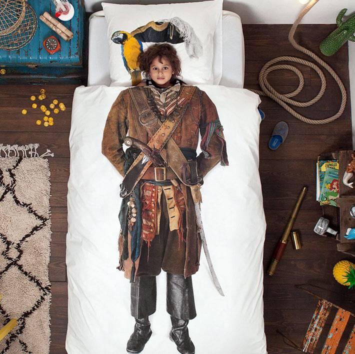 постельное белье для детей с пиратом