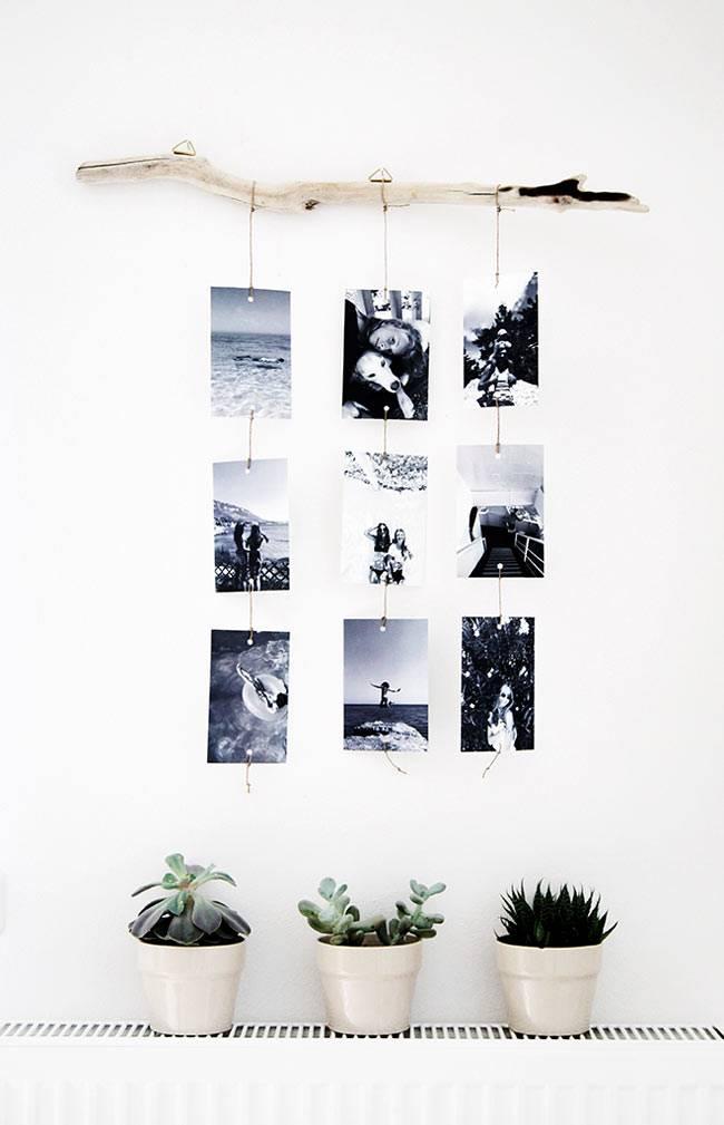 как повесить фотографии в интерьере