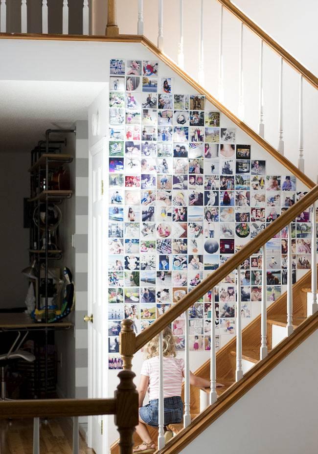 квадратные фотографии в интерьере, идеи размещения