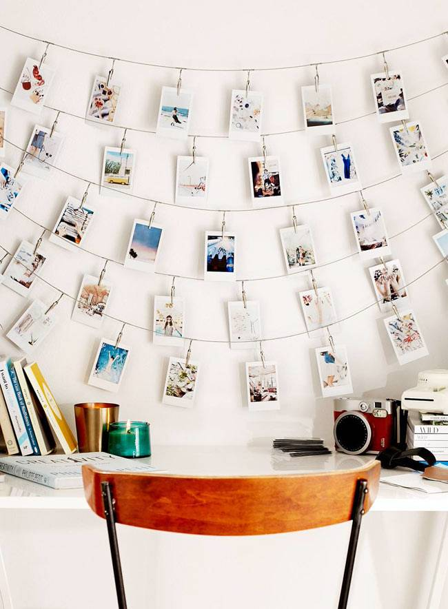 фотографии в интерьере над рабочим столом