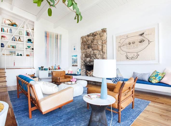 камин в дизайне интерьера гостиной комнаты фото