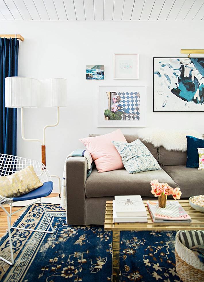 интерьер гостиной для уютных посиделок