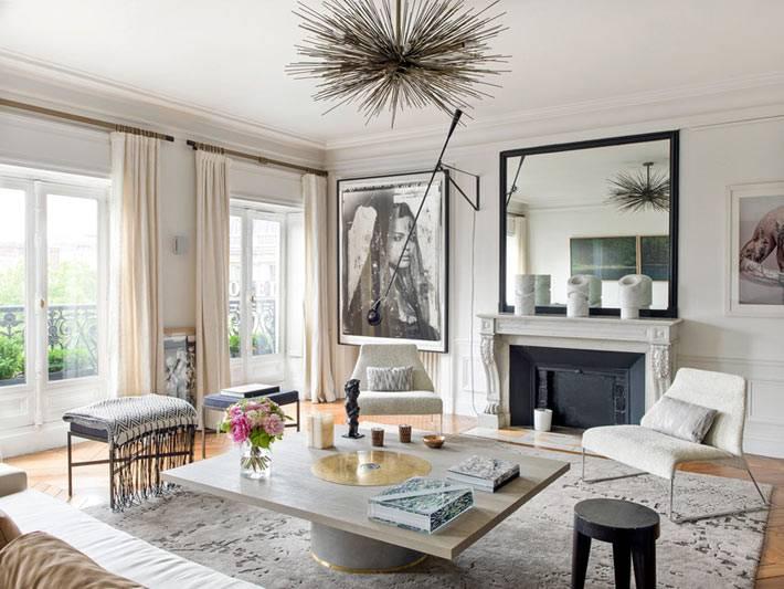 дизайн интерьера - апартаменты в Париже фото
