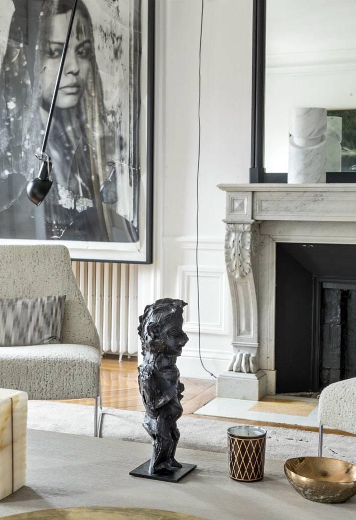 аксессуары в дизайне интерьера квартиры в Париже