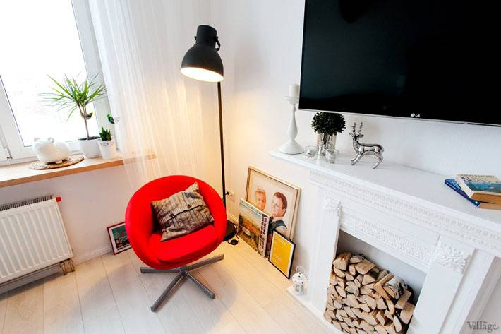 скандинавский стиль интерьера квартиры в Киеве фото