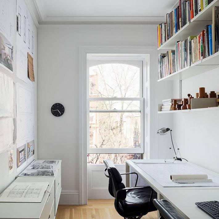 сканлинавский стиль рабочего кабинета фото