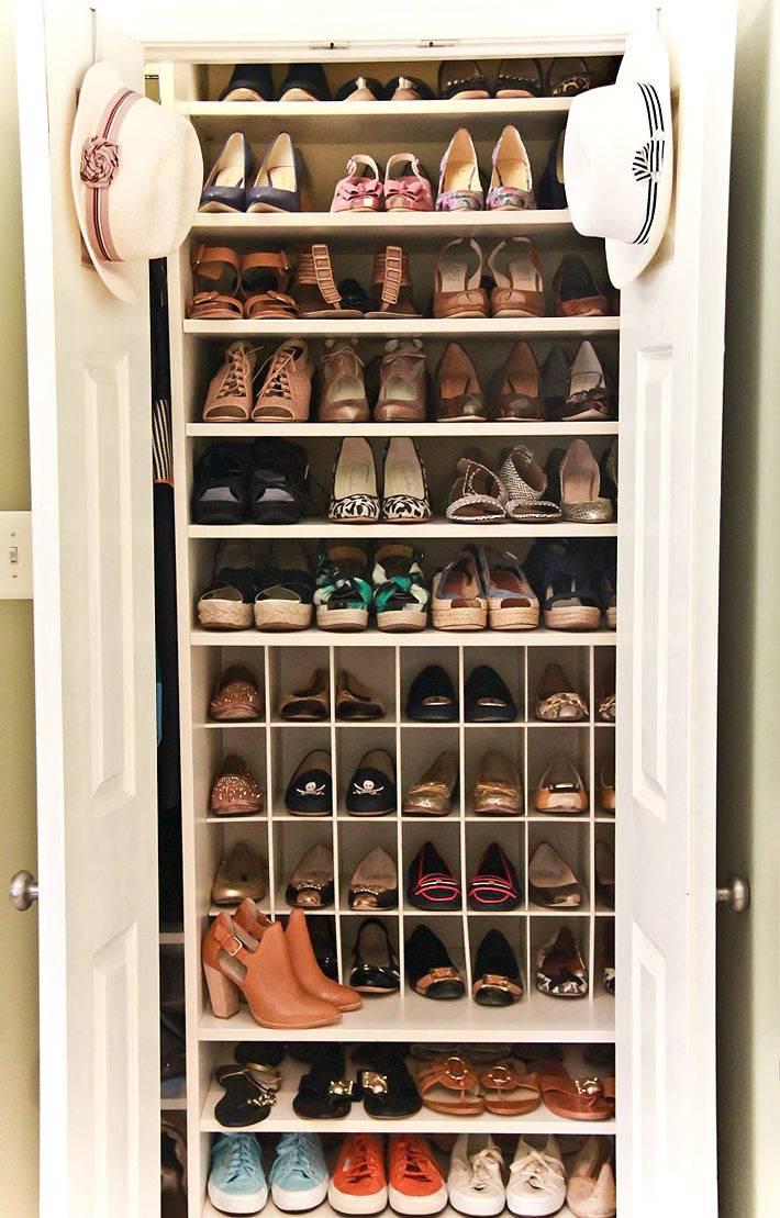 как хранить обувь в интерьере фото