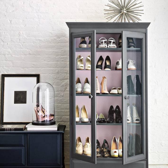 варианты хранения обуви в доме