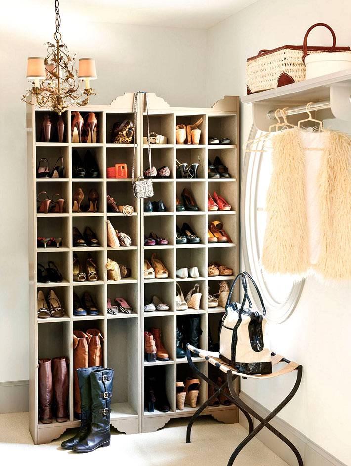 стеллаж для обуви в доме