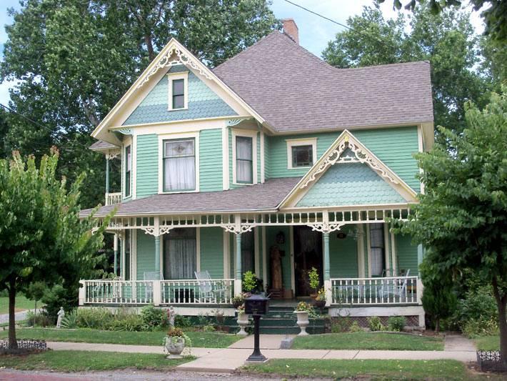 зеленая фасадная краска для дома
