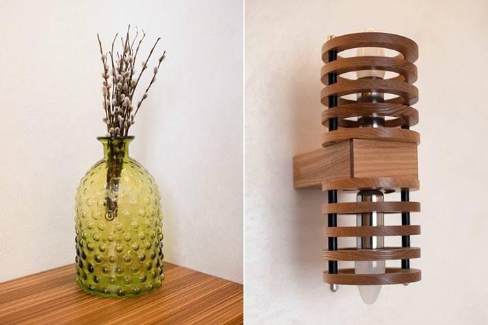 деревянный декор в маленькой квартире