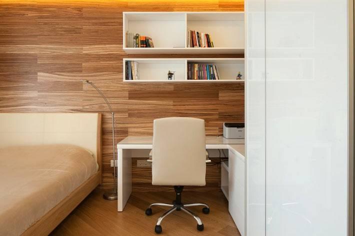 рабочий стол в дизайне интерьера спальни фото