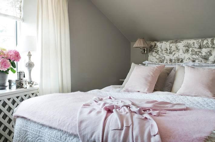 маленькая спальня в романтическом стиле фото
