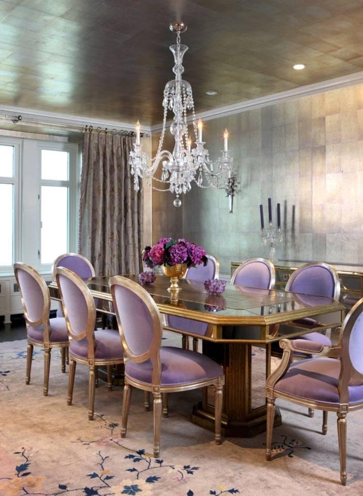 светло-фиолетовый цвет для стульев столовой комнаты