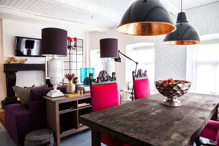 кухня совмещенная с гостиной комнатой