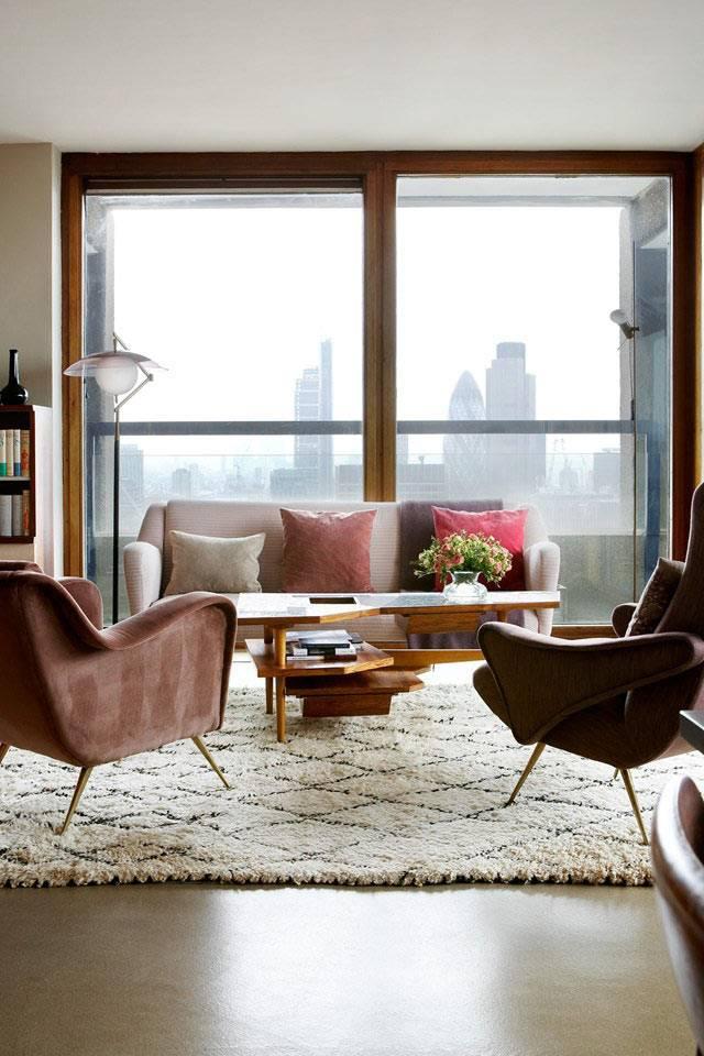 ретро-мебель в интерьере квартиры в лондоне