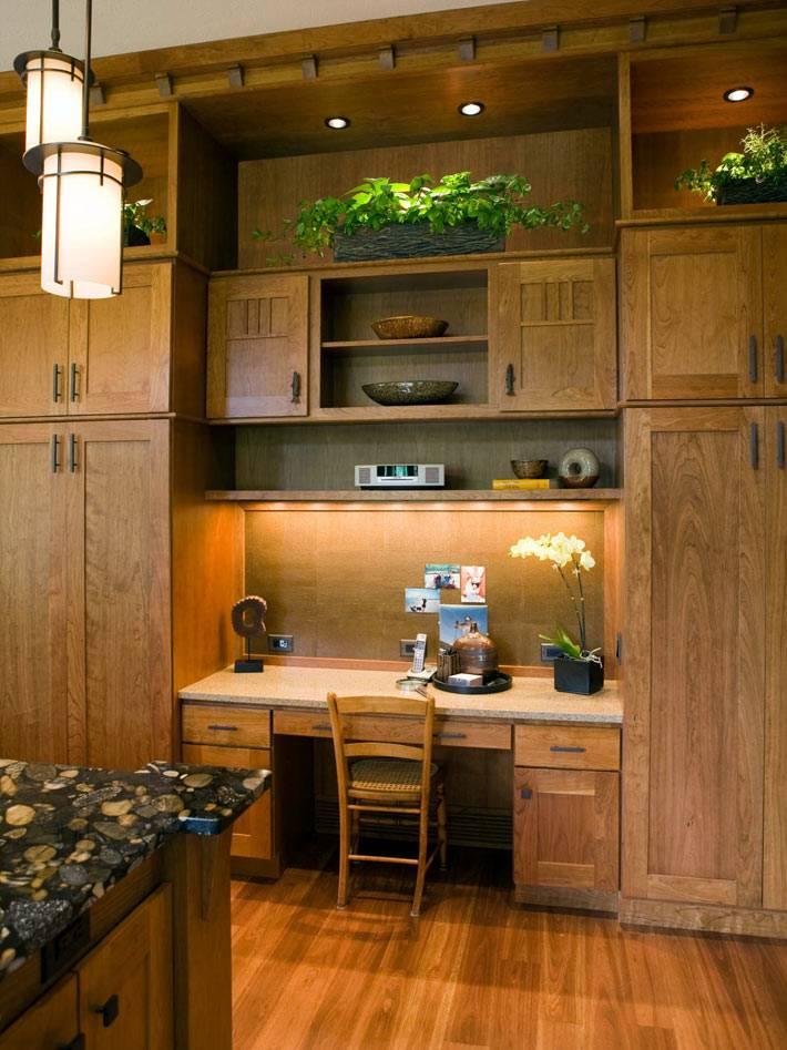 как обустроить рабочий кабинет на кухне