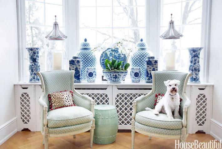 декоративные китайские вазы в интерьере