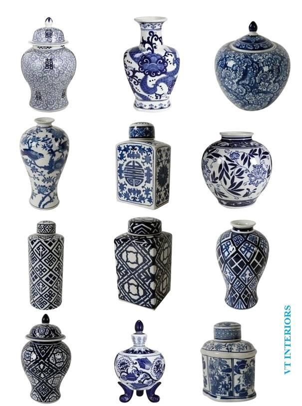 разные китацские вазы в интерьере фото