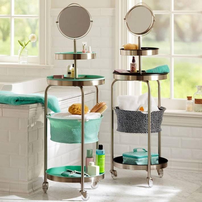 как хранить мелочи в ванной комнате