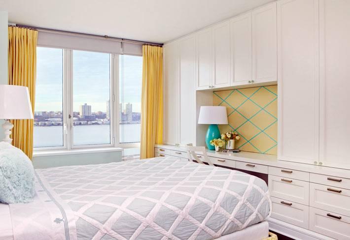 белый цвет в дизайне спальни фото