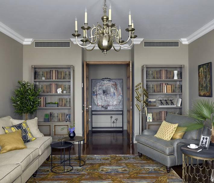 дизайн интерьера квартиры в серых тонах